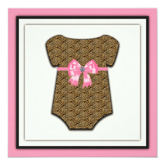 Pink Leopard Baby Shower Card