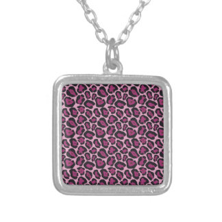 Pink Leopard Print Necklace