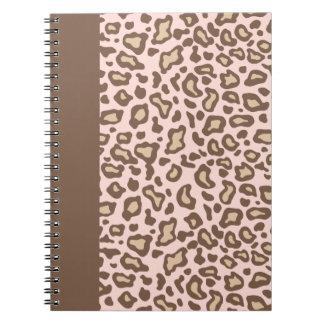 Pink Leopard School Notebook Journal Gift