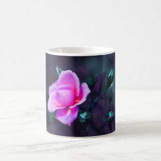 Pink lilac and cyan basic white mug