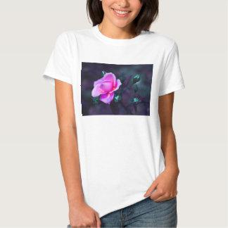 Pink lilac and cyan tee shirts