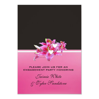 Pink Lily Engagement Announcement