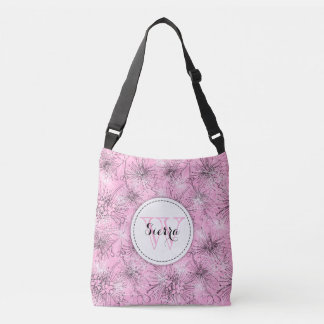 Pink Lily pilly custom pattern tote bag