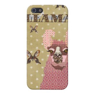 Pink Llama Golden Stars i Cover For iPhone 5