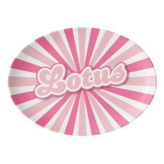 Pink Lotus Porcelain Serving Platter
