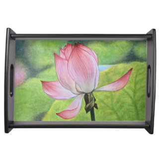 Pink Lotus Serving Tray
