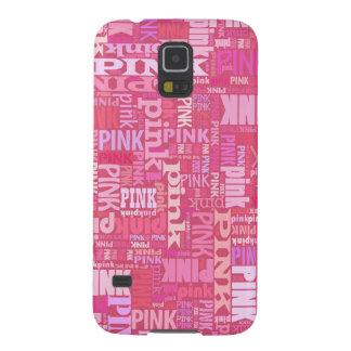 Pink lovers dark raspberry pink text pattern galaxy s5 case