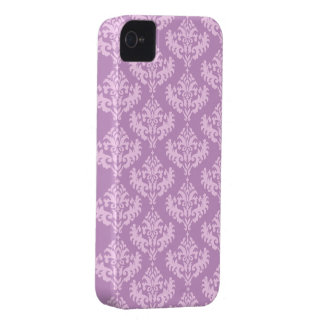 Pink Luxurious Damask Pattern iPhone 4 Covers