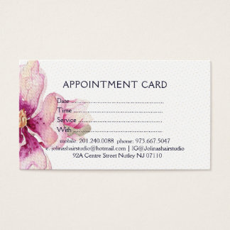Pink Magnolia Watercolors Appointment Card