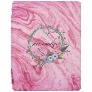pink marble beautiful texture pattern personalize iPad cover
