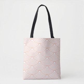 Pink Modern Waves Tote Bag