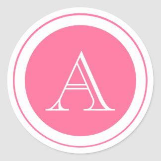 Pink Monogram Envelop Seal Sticker