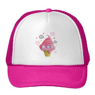 Pink Monster Ice Cream Cone Cap