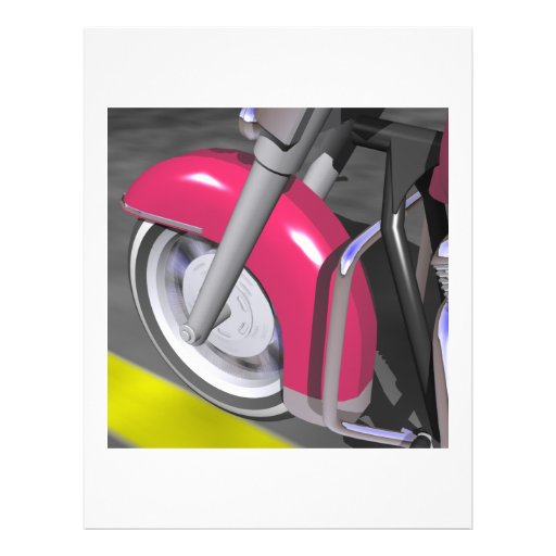 Pink Motorcycle Personalized Flyer