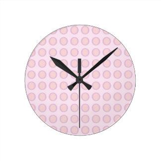 Pink-n-Orange Dots Clocks