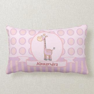Pink-n-Orange Giraffe Cushions