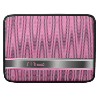 Pink Named Waves Sleeve For MacBook Pro