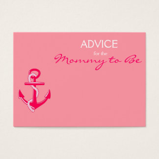 Pink Nautical Advice for the Mommy to Be Cards