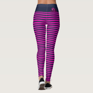 Pink & Navy Stripped CapoHeads Leggings