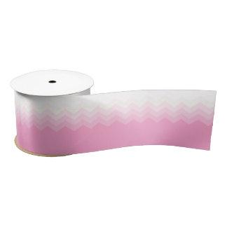 Pink Ombre Chevron Pattern Satin Ribbon
