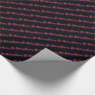 Pink Ombre Happy Birthday Wrapping Paper