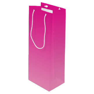 Pink Ombre Wine Gift Bag