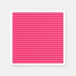 Pink on Pink Chevron Stripe Standard Cocktail Napkin