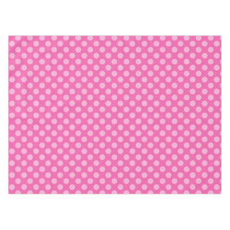 Pink on Pink Polka Dotted Tablecloth