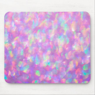 Pink Opal Lavender Gemstone Mouse Pad