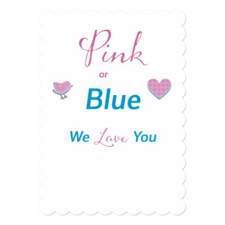 Pink or Blue Card