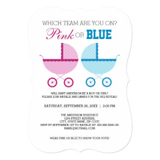 Pink or Blue Gender Reveal Party Invite