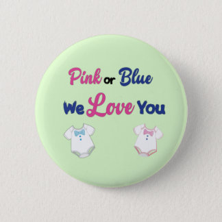 Pink or Blue with Layette Bodysuits 6 Cm Round Badge