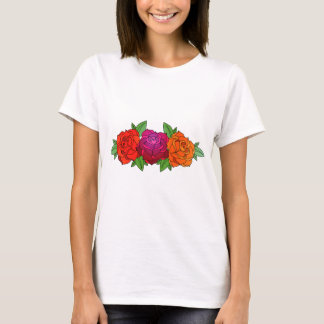 pink orange and yellow roses T-Shirt