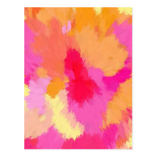Pink Orange and Yellow Watercolors Post Card
