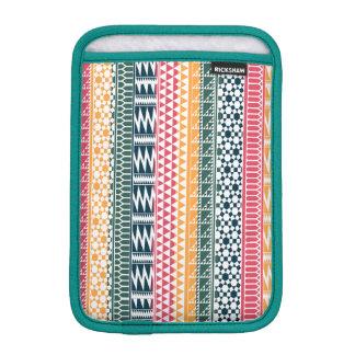 Pink Orange Blue Geo Aztec Tribal Print Pattern iPad Mini Sleeve