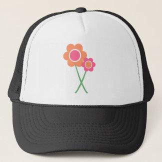 Pink Orange Daisy Flowers Trucker Hat