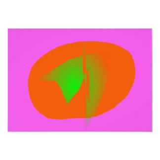 Pink Orange Green 13 Cm X 18 Cm Invitation Card