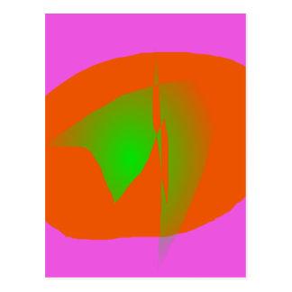 Pink Orange Green Postcard