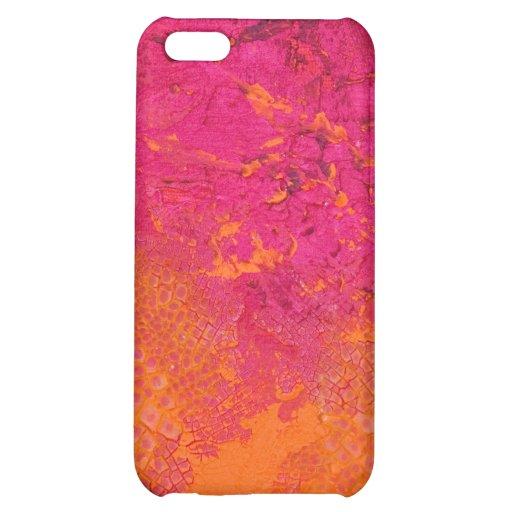 Pink & Orange Grunge iPhone 5C Cases