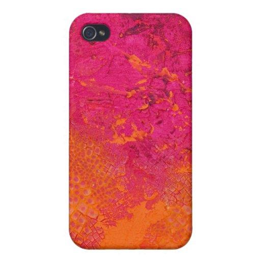 Pink & Orange Grunge iPhone 4 Case
