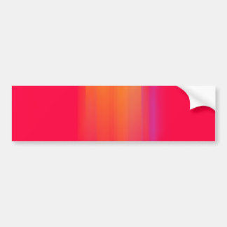 Pink & Orange Motion Blur: Bumper Sticker