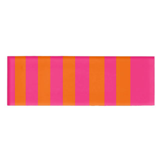 Pink & Orange Name Tag
