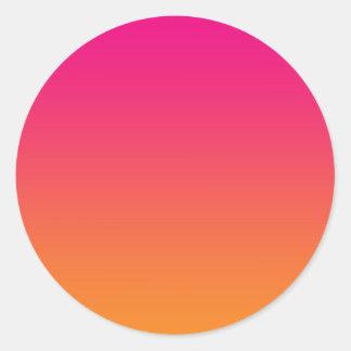 Pink & Orange Ombre Classic Round Sticker