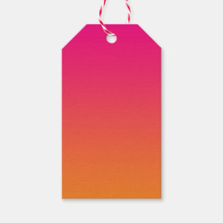 Pink & Orange Ombre Pack Of Gift Tags