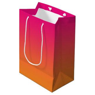 Pink & Orange Ombre Medium Gift Bag