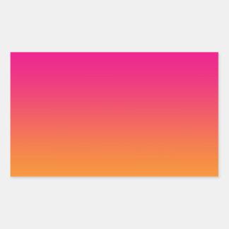 Pink & Orange Ombre Rectangular Sticker