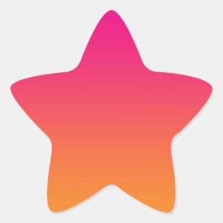 Pink & Orange Ombre Star Sticker