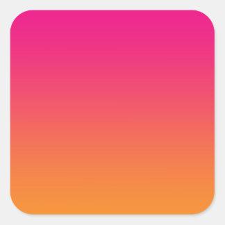Pink & Orange Ombre Square Sticker
