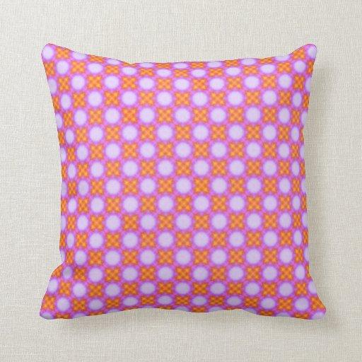 Pink & Orange Pattern Throw Pillows