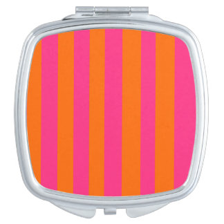 Pink & Orange Square Compact Mirror